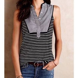 Anthropologie Striped Osten Tank Top Size Small